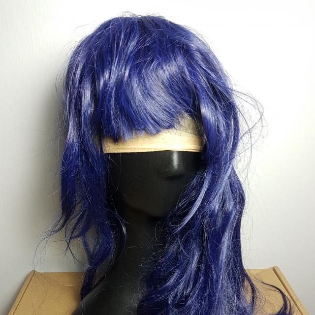 Bluish Purple Shoulder Length Hair Wig 13 Women S Fashion Accessories On Carousell