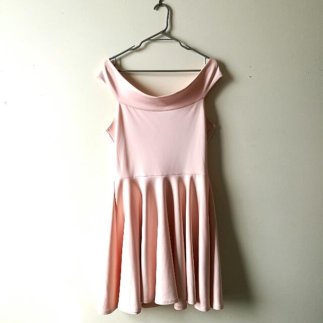 Boohoo Sz14 Off The Shoulder Dress