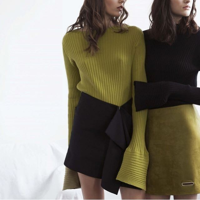 Brand New INTERVAL knit Sweater With Cuff Detailing