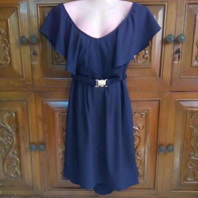 Branded  Ruffled Dress