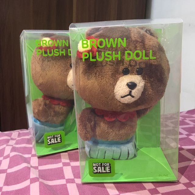 Brown Plush Doll - Brown