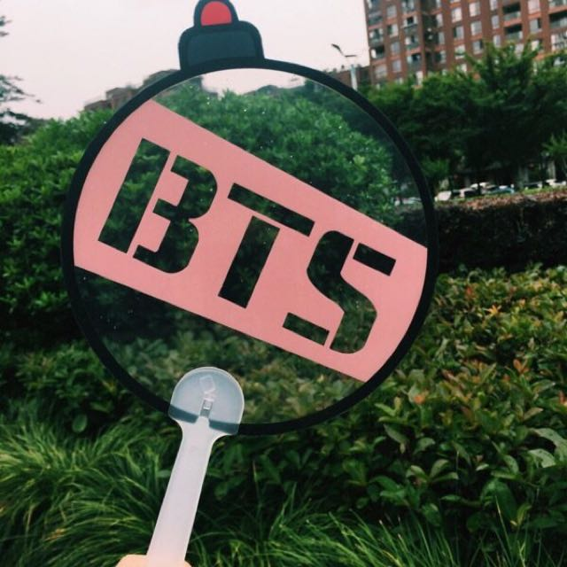 BTS Army Bomb Transparent Handfan