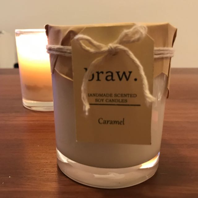 Caramel Hand Made Scented Soy Candle