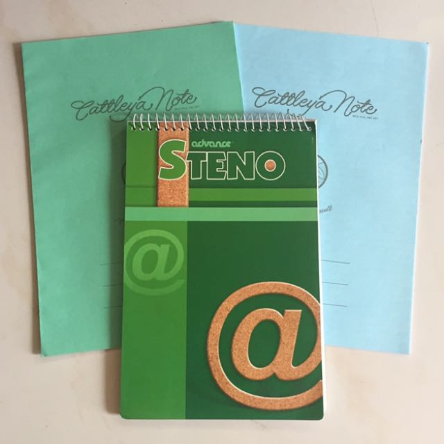 Cattleya Filler And Advance Steno Notebook On Carousell