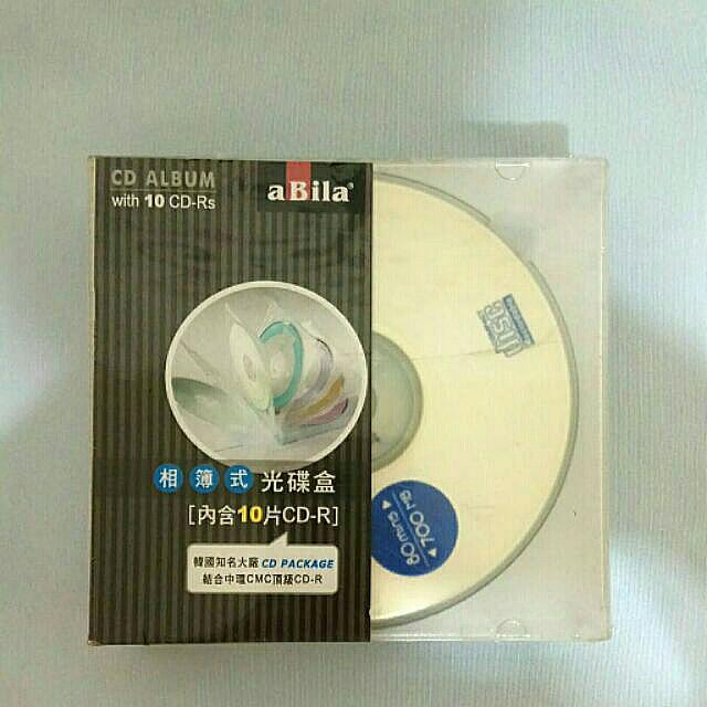 「全新」未拆封相簿式光碟盒附十片CD-R #六月免購物直接送