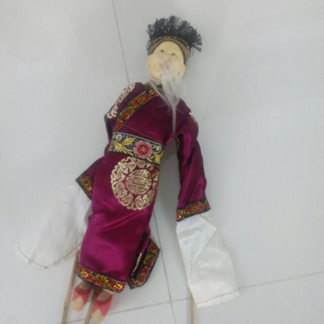 Collector Display Chinese Puppet (Wood With Costume) Excellent Condition