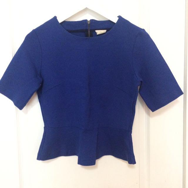 Club Monaco Peplum Shirt XS/S
