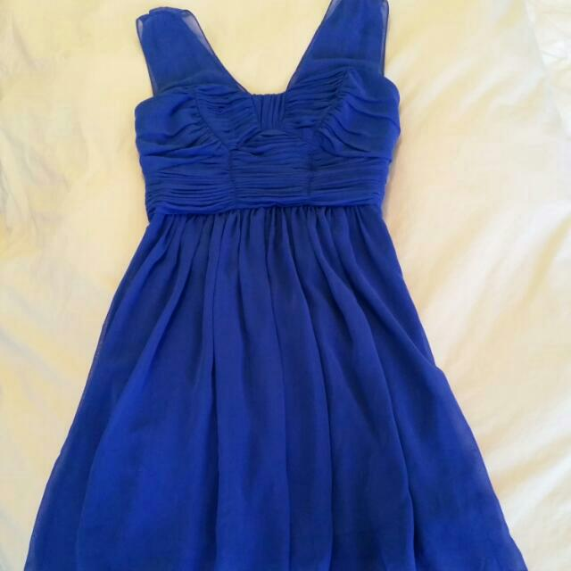 Cobalt Blue Dress Asos Size Xs 8 #EOFYSALE