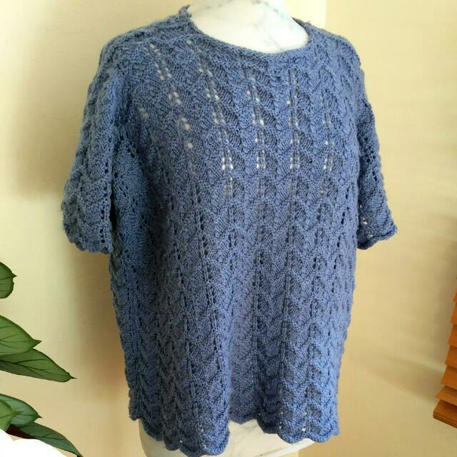 Crochet Lavender Jumper sz S-M
