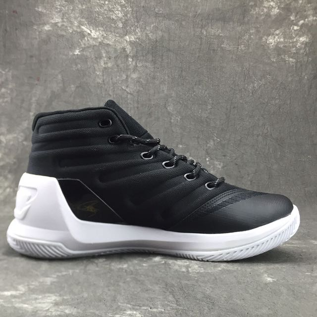 Curry 3 Underarmour Black & White Shoes (GSS)