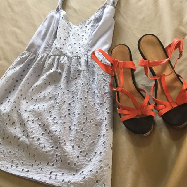 Cute light blue summer dress