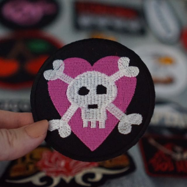 Cute Punk Skull Patch