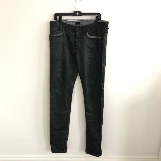DIOR HOMME JEANS - LEATHER BLACK