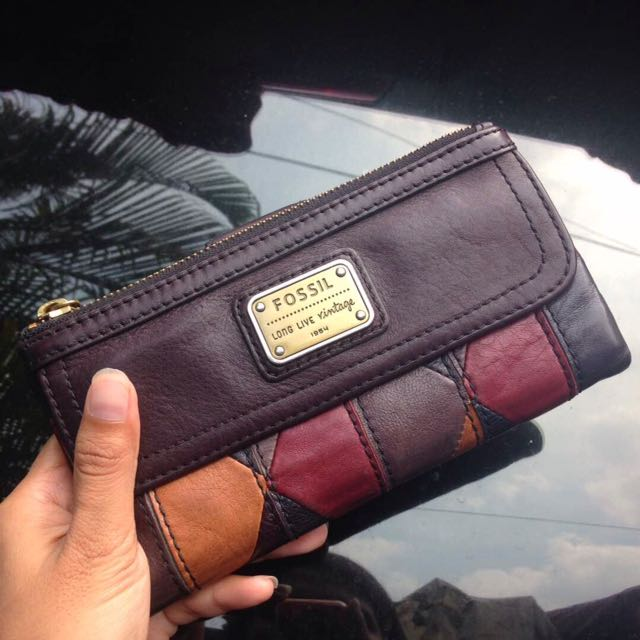 Dompet Fossil Emory Cordovan / Patchwork