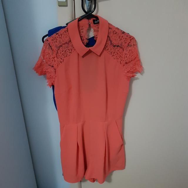 Dotti Size Ten Carol Playsuit With Lace Details