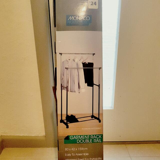 Double Rail Clothes Rack