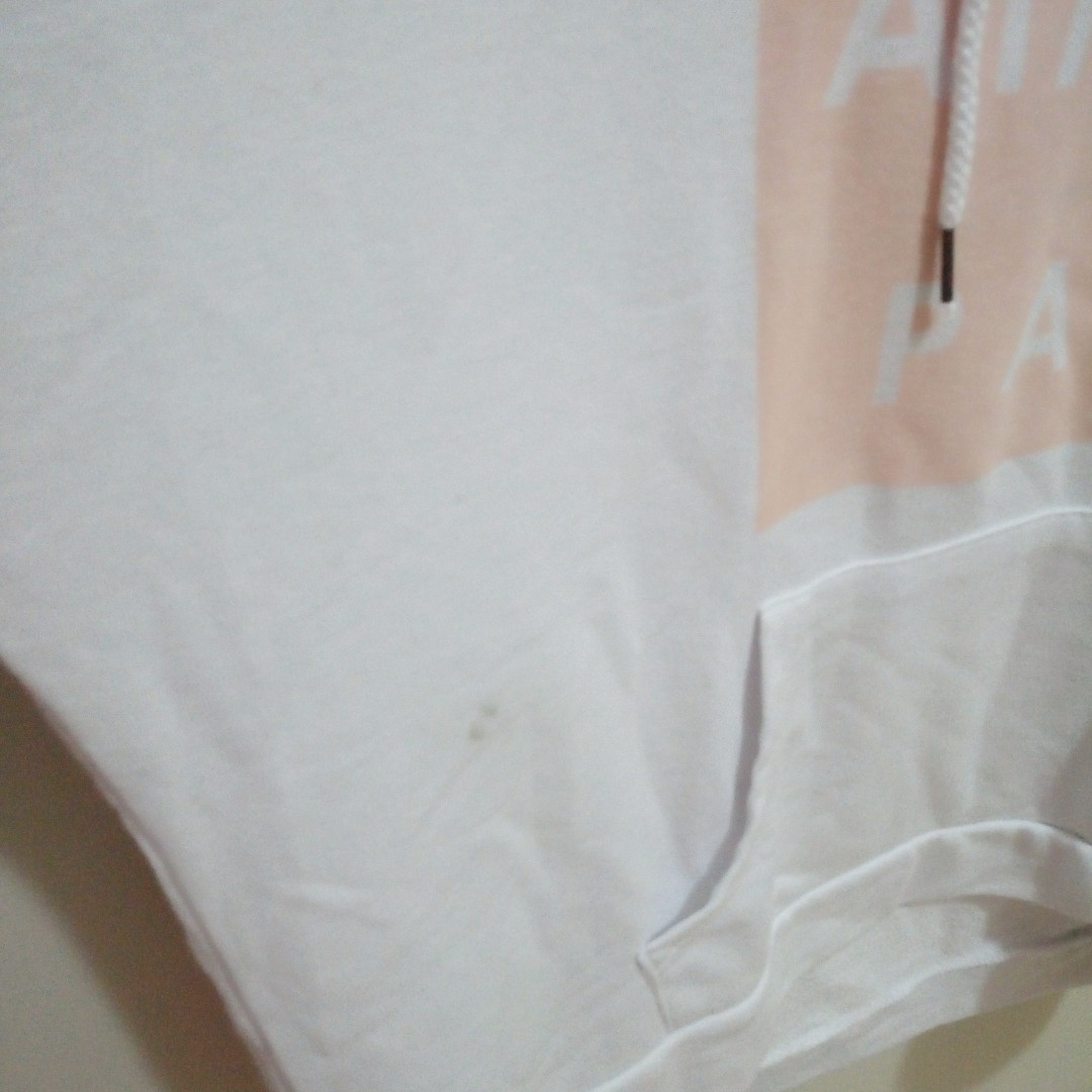 Factorie White Jumper Hoodie Peach Jacket