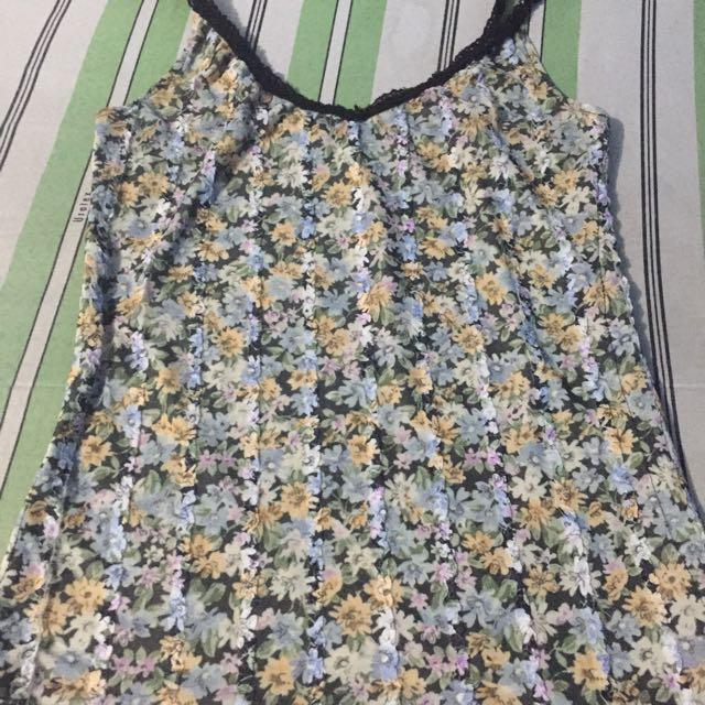 floral (sleeveless)