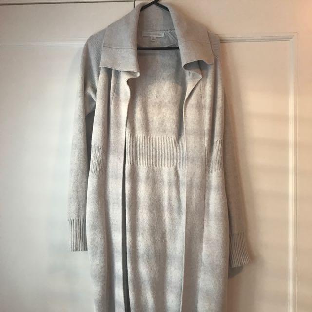 Forever New XS Light Grey Long Cardigan