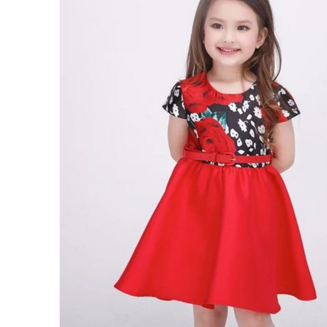 9c9c519f97744 (FREE SHIPPING)RED PRINCESS DRESS FOR LITTLE GIRLS AGE 4 TO 13 YRS OLD