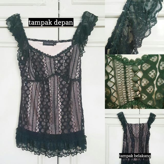 Future State Black Lace Top // Atasan Wanita