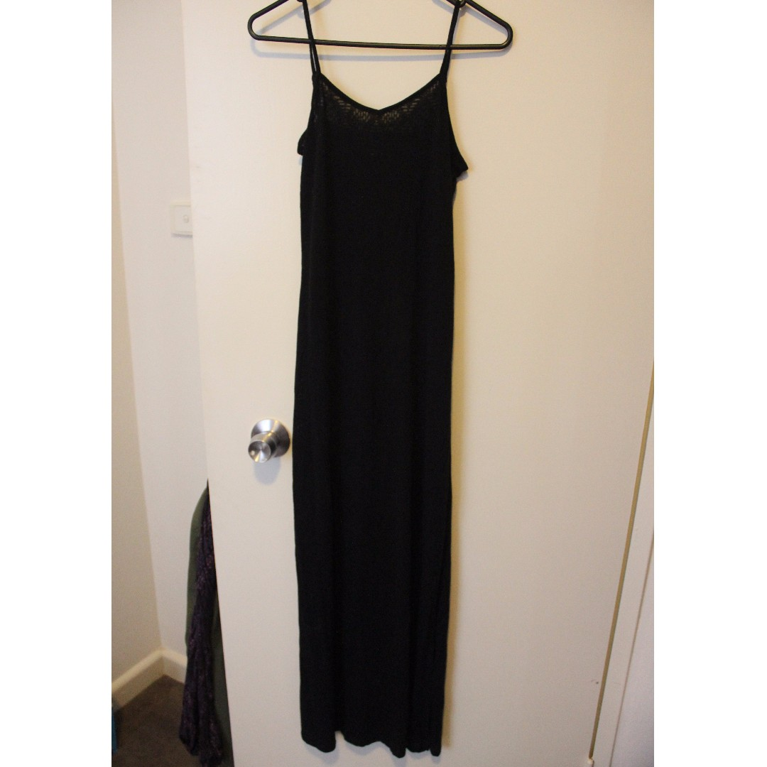GLASSONS XS long black dress