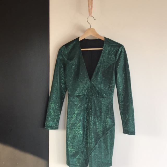 Green Sparkly Part Dress