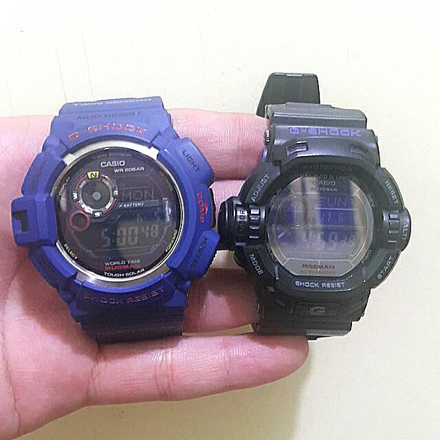 Gshock Watch G-9200bp (Riseman) And G-9300nv (Mudman) Sold As Pack
