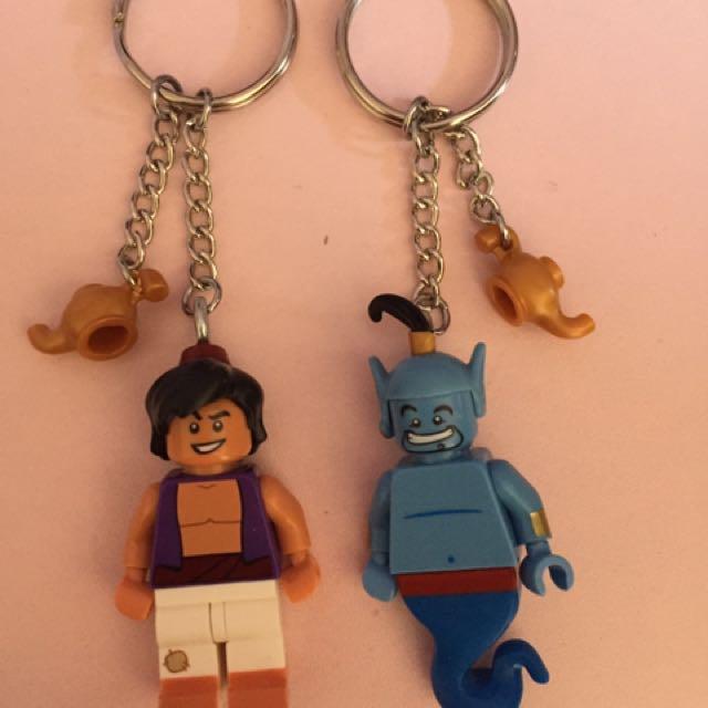 Handmade Disney Aladdin & Genie Keyrings