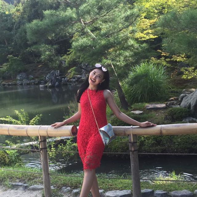 Colorbox embroidery red dress