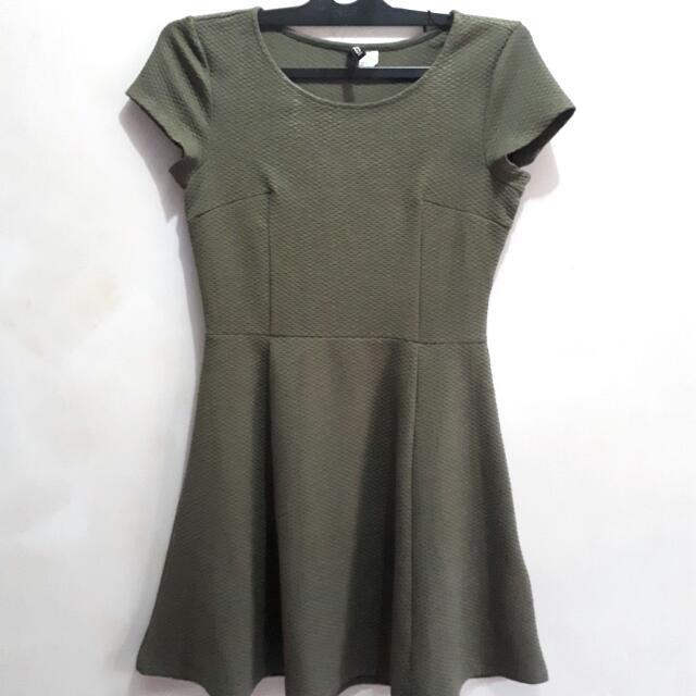 HnM Army Mini Dress