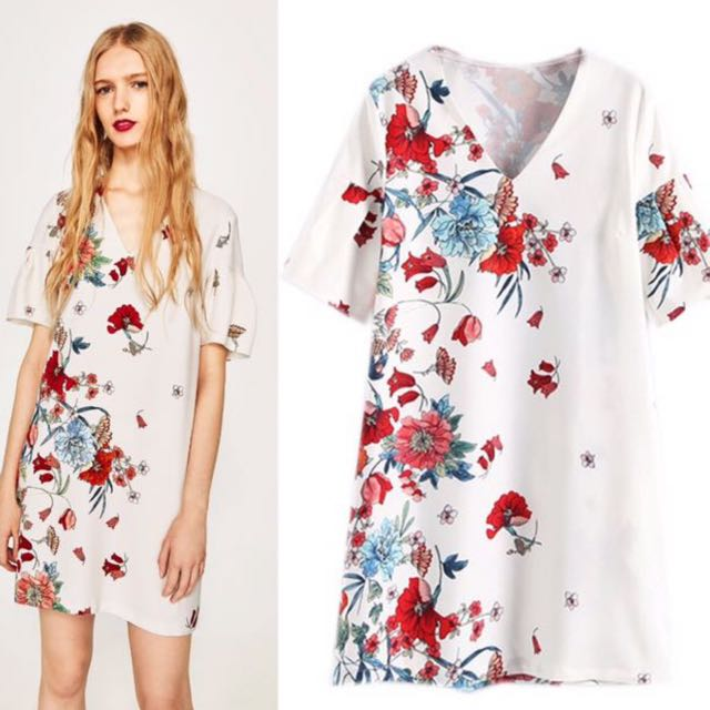 037d5ca1 🌹Inspired Zara Dress With Red Floral Prints V Neck Dress🌹, Women's  Fashion, Clothes, Dresses & Skirts on Carousell