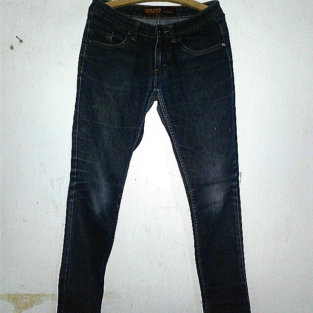 Jeans Pensil Biru Dongker