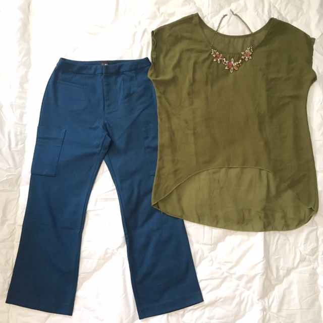 Kulot pants uniqlo and blouse