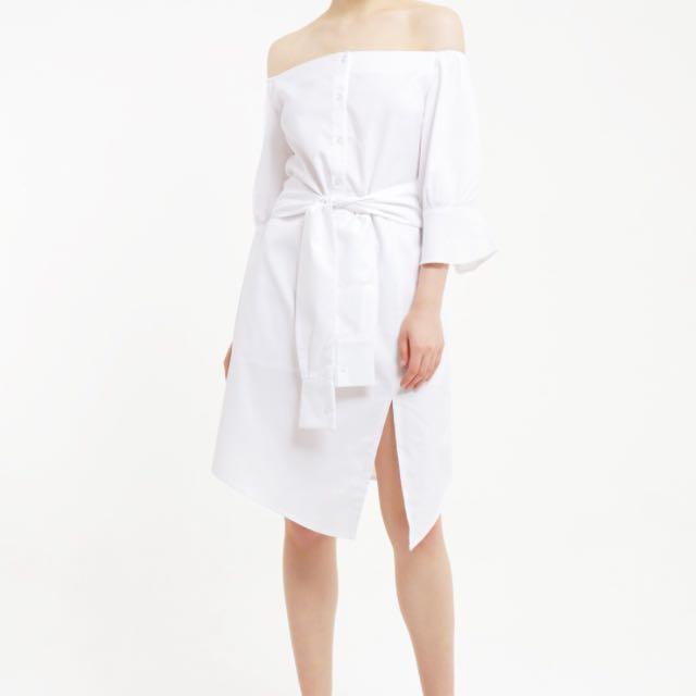 Label8 White Sabrina Dress