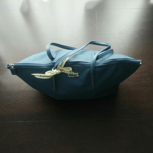 Lacoste Blue Concept Zip Tote Bag