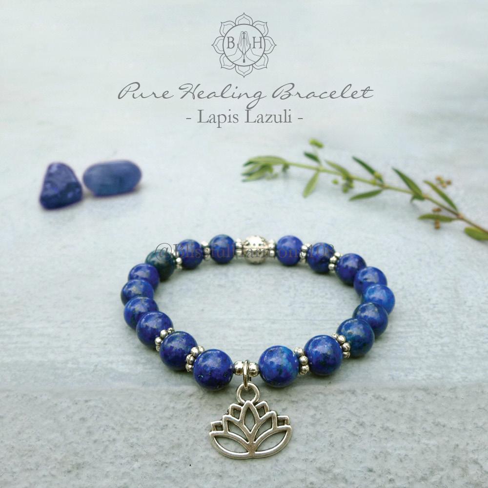 Lapis Lazuli Mala Bracelet, Lapis Lazuli Jewelry, Wrist Mala, Yoga Jewelry,  Spiritual Jewelry, Healing Jewelry, Chakra Bracelet, Meditation Jewelry