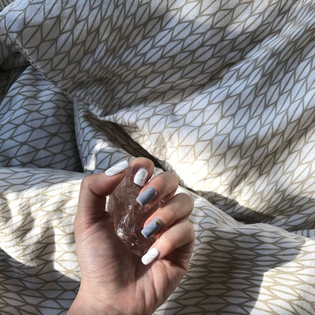 🌊marble nails design 💅🏼