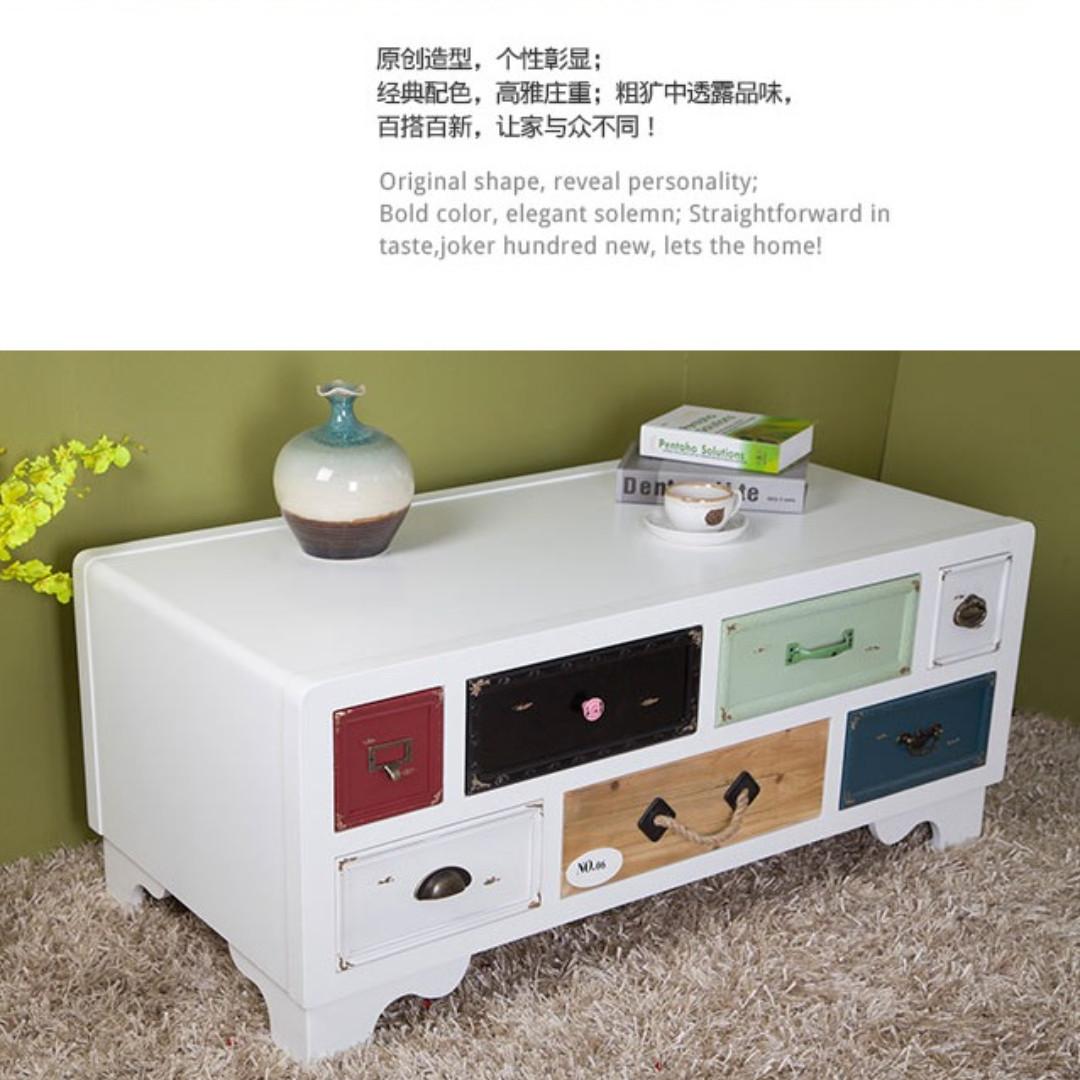 Mediterranean retro style cabinet/TV console, made of cedar wood ...