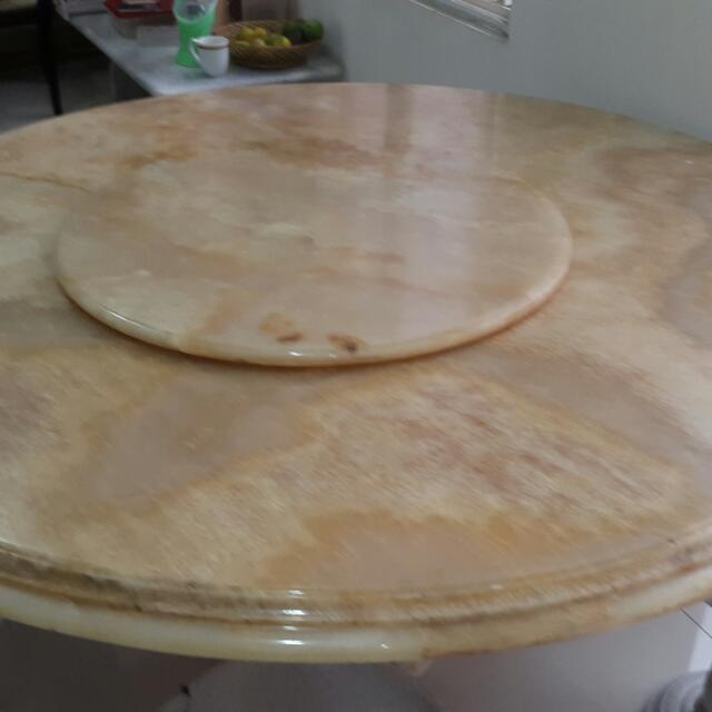 meja makan marmer onik bulat besar kuno 1496577480 afcc3756