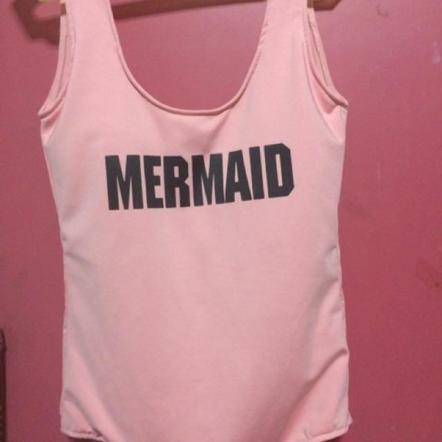 Mermaid (low-back) swimsuit