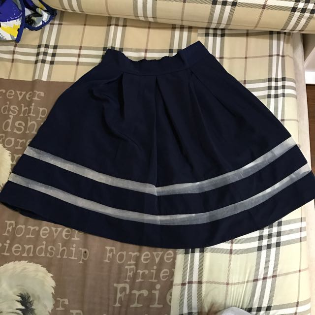 Midi navy blue skirt