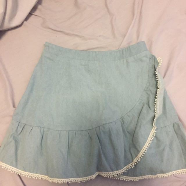 Mishka Boutique Denim Skirt Size XS 6-8
