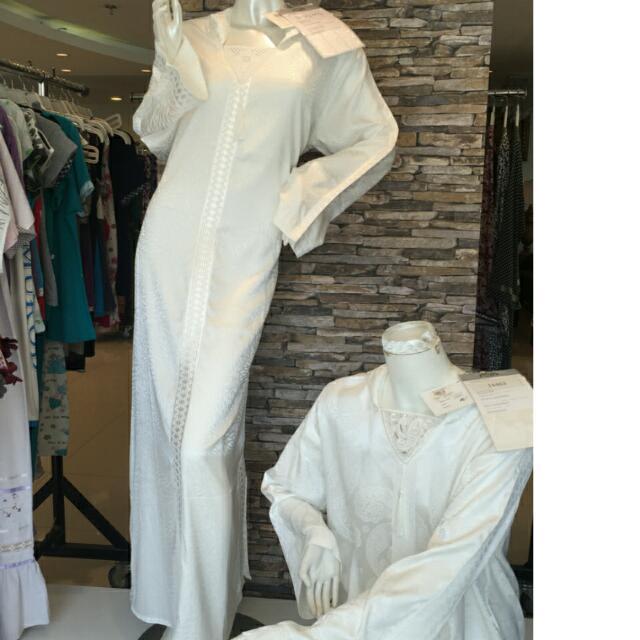 Moroccan Abaya White