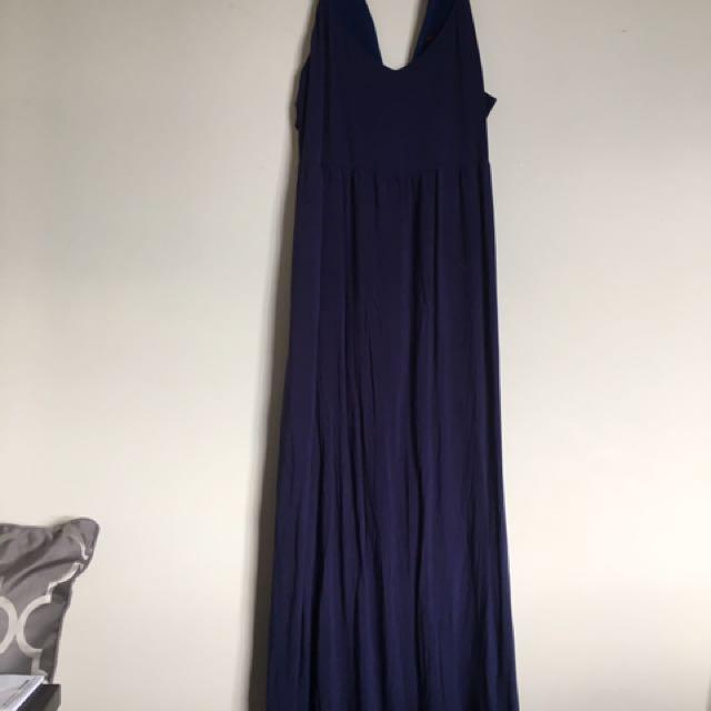 Navy Blue Lippy Maxi Dress