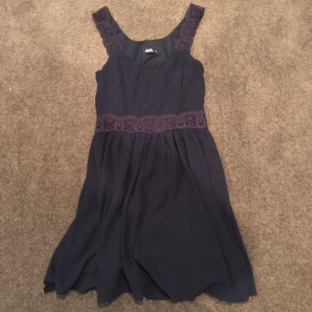 Dotti Navy Dress Size 8