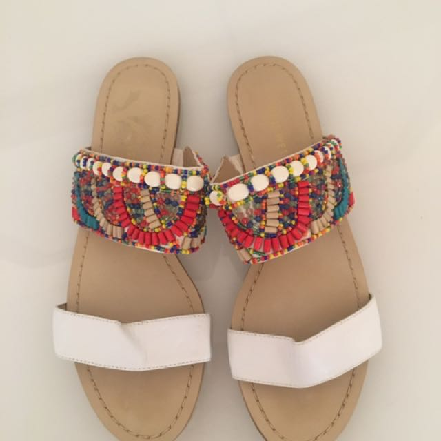 Never Worn Nine West Sandals Beaded 9