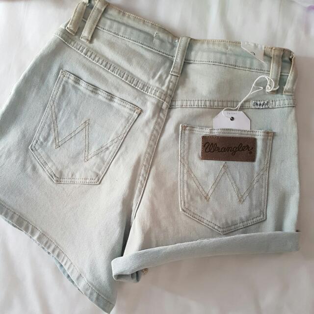 NEW Wrangler Hi Cheeky High Waisted Denim Shorts