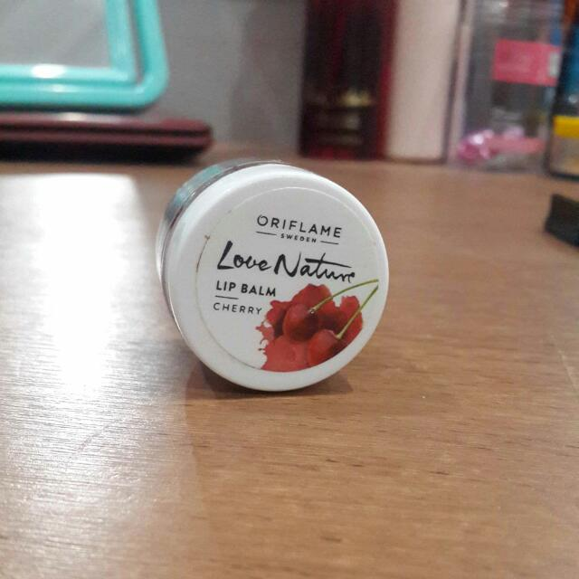 ORIFLAME SWEDEN LOVE NATURE LIP BALM CHERRY