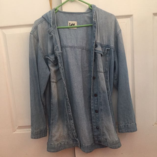 Oversized Denim Lee Jacket With Hood